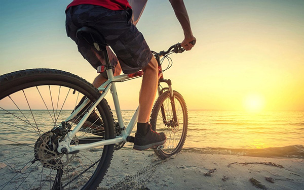cycling into the sunset
